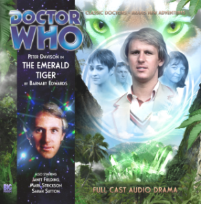 Cover to Doctor Who Monthly release #159 The Emerald Tiger, feat. The Fifth Doctor
