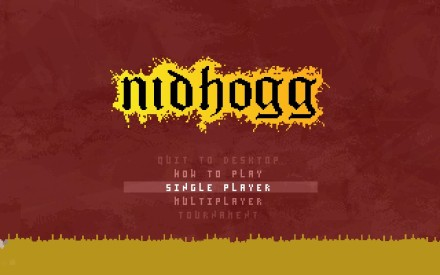 Nidhogg Title Screen